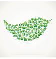 e creative leaf design vector image vector image