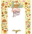 easter menu card vector image
