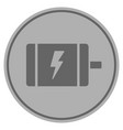 electric motor silver coin vector image vector image