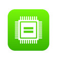 electronic circuit board icon digital green vector image