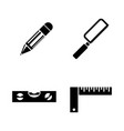 engineering tools simple related icons vector image