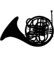 fench horn silhouette vector image vector image