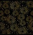 firework seamless pattern gold foil black vector image vector image