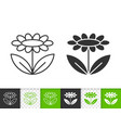 flower simple black line icon vector image vector image