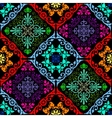 Fluorescent seamless tapestry vector image vector image