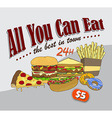 food and drink theme art vector image vector image