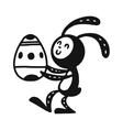 Greeting card rabbit vector image vector image