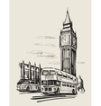 hand-drawn london vector image