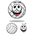Happy cartoon volleyball vector image