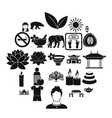 healthcare icons set simple style vector image vector image