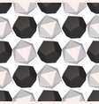 hexagons decoration seamless pattern vector image vector image