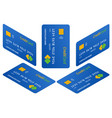 isometric design credit cards set isolated vector image