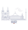 jakarta city skyline vector image