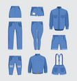 jeans clothes denim fabric casual jackets and vector image