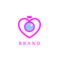 love pics logo vector image
