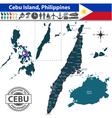 Map of Cebu island