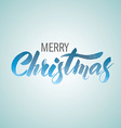 Merry christmas handwritten text vector image
