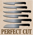 Perfect Cut vector image vector image