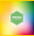 rainbow themed mesh background vector image vector image