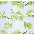 seamless texture pine tree branches lush conifer vector image vector image