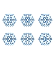 set of snowflake icons vector image vector image