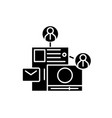 share content black icon sign on isolated vector image vector image