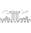 singapore outline icon can be used for web logo vector image vector image