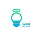 smart led light bulb icon on white vector image vector image