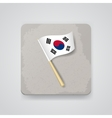 South Korea flag icon vector image vector image