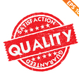 Stamp sticker quality collection - - EPS10 vector image vector image