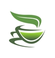 Steaming cup of tea vector image vector image
