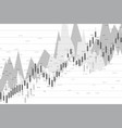 stock market or forex trading graph chart suitable vector image vector image