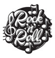 stylish print template on the theme of rock vector image vector image