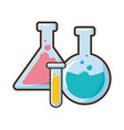test tubes glassware science vector image vector image