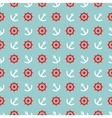 Tile sailor pattern white anchor and red rudder vector image
