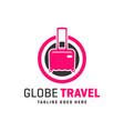 travel agency logo around world vector image vector image