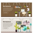 Two Horizontal banner for web design vector image vector image