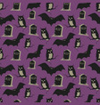 vintage halloween background seamless pattern for vector image
