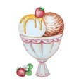 Watercolor ice cream vector image vector image