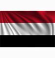 waving yemen vector image vector image