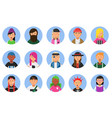 web funny avatars set different hipsters male vector image vector image