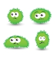 collection of cartoon germs vector image