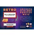 set Retro neon sign vintage billboard vector image