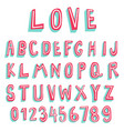 two tone 3d font collection vector image