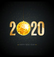 2020 happy new year gold greeting card vector image vector image