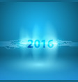 abstract blue background with 2016 in current arc vector image vector image