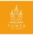 Abstract Tower Outlined Logo Template vector image vector image