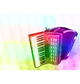 Accordion Iridescen colours vector image