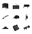 Advertising set icons in black style Big vector image vector image