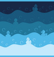 background with toy ducks and bubbles vector image